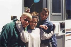 Eric Gamache, Barbara Michalik, Aaron Kupec at Cameron Pass Colorado