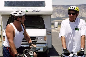Ray & Neal riding across Utah